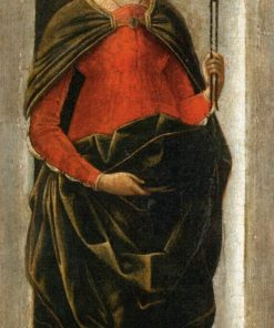 Saint Apollonia (from the Griffoni Altarpiece) | Ercole de' Roberti | Oil Painting