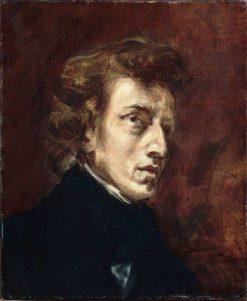 Portrait of Frédéric Chopin   Eugene Delacroix   Oil Painting