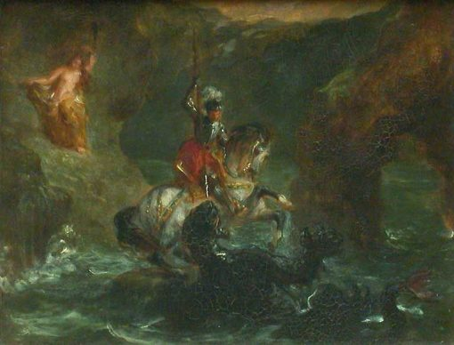 Saint George and the Dragon(also known as Perseus Delivering Andromeda) | Eugene Delacroix | Oil Painting