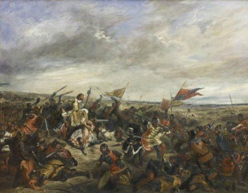 Battle of Poitiers 19 September 1356(also known as Le roi Jean a la bataille de Poitiers (19 septembre 1356)) | Eugene Delacroix | Oil Painting