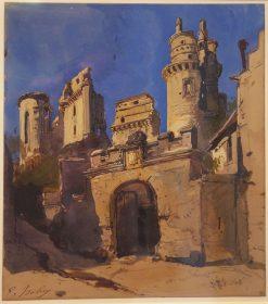Ch?teau de Pierrefonds | Eugene Isabey | Oil Painting