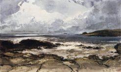 Rocks at Saint-Malo | Eugene Isabey | Oil Painting