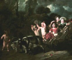 Children in a Goat Carriage | Ferdinand Bol | Oil Painting