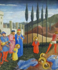 The Martyrdom of Saint Cosmas and Saint Damian (Predella of the San Marco Altarpiece) | Fra Angelico | Oil Painting