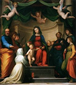 The Mystical Marriage of Saint Catharine of Siena | Fra Bartolomeo | Oil Painting