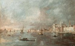 View of the Giudecca with the Zattere   Francesco Guardi   Oil Painting