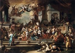 Expulsion of Heliodorus from the Temple | Francesco Solimena | Oil Painting