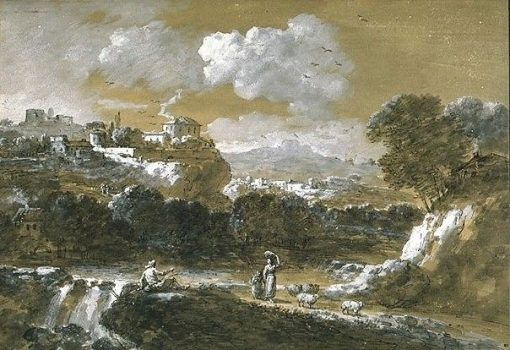Landscape with a Fisherman