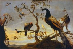 Birds Perched on Branches | Frans Snyders | Oil Painting