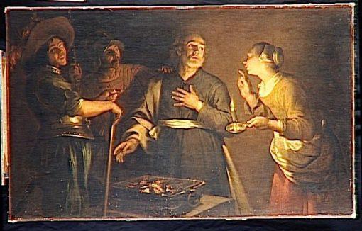 The Denial of Saint Peter(also known as Le reniement de Saint Pierre)   Georges de La Tour   Oil Painting