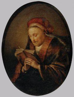Old Woman Praying | Gerrit Dou | Oil Painting