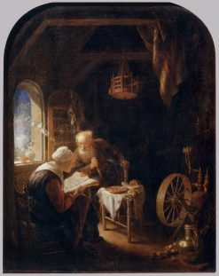 Woman Reading the Bible | Gerrit Dou | Oil Painting