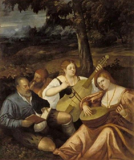 Concert champêtre | Giovanni Cariani | Oil Painting