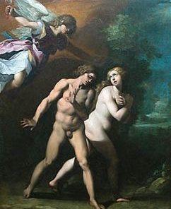 The Expulsion of Adam and Eve   Giuseppe Cesari   Oil Painting