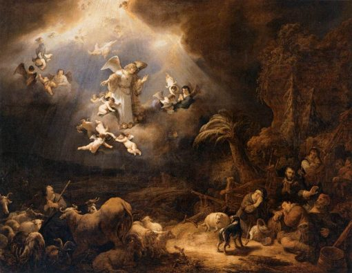 Angels Announcing the Birth of Christ to the Shepherds   Govaert Flinck   Oil Painting