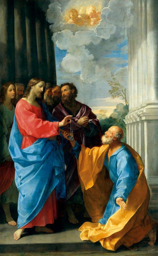 Christ Handing the Keys to Saint Peter   Guido Reni   Oil Painting