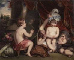 Infant Academy (inspired by Joshua Reynolds)   Henry Bone   Oil Painting
