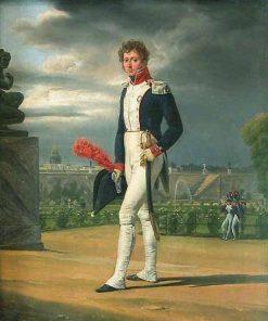Portrait of Philippe-Balthazar Lenoir (1785-1867) | Horace Vernet | Oil Painting