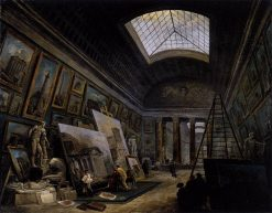 Imaginary View of the Grande Galerie in the Louvre | Hubert Robert | Oil Painting