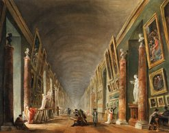 The Grande Gallerie | Hubert Robert | Oil Painting