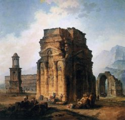 The Arc de Triomphe and the Theatre of Orange | Hubert Robert | Oil Painting