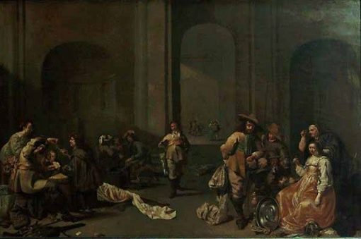 Hoard of Booty(also known as Interior of a Guardroom in an Old Romanesque Church)   Jacob Duck   Oil Painting