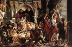 Christ Driving the Merchants from the Temple | Jacob Jordaens | Oil Painting