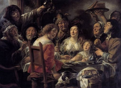 The King Drinks | Jacob Jordaens | Oil Painting