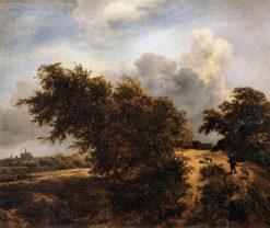 Path in the Haarlem Dunes | Jacob van Ruisdael | Oil Painting