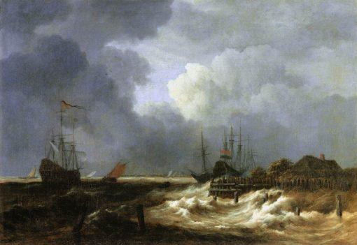 The Breakwater | Jacob van Ruisdael | Oil Painting