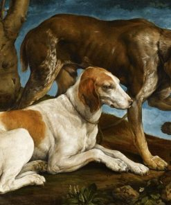 Two Hunting Dogs | Jacopo Bassano | Oil Painting