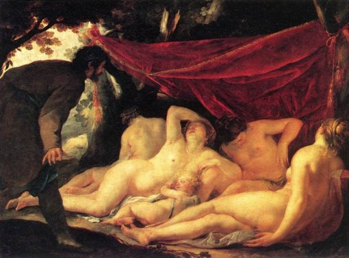 Venus and the Three Graces Surprised by a Mortal | Jacques Blanchard | Oil Painting