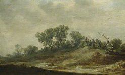 Peasants on a Slope | Jan van Goyen | Oil Painting