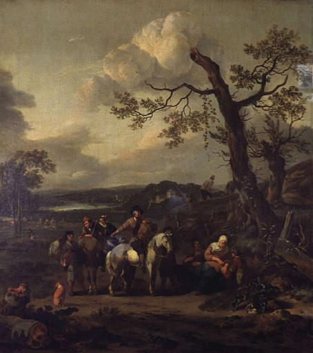 Countrymen Halting during a Hunt | Jan Wijnants | Oil Painting