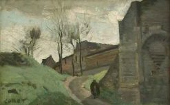 The Walls of Arras: Saint-Michel Gate | Jean Baptiste Camille Corot | Oil Painting