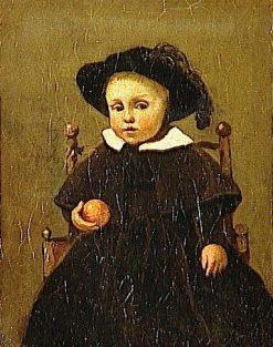 Child Holding an Orange (Painter Adolphe Desbrochers) | Jean Baptiste Camille Corot | Oil Painting