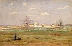 Village of Rosny in the Spring   Jean Baptiste Camille Corot   Oil Painting