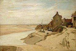 Fishermen's House at Saint Adresse | Jean Baptiste Camille Corot | Oil Painting