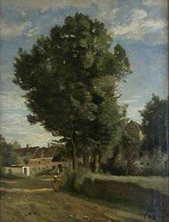 Approach to a Village | Jean Baptiste Camille Corot | Oil Painting