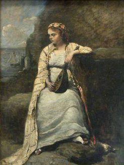 Haidee(also known as Haydee)   Jean Baptiste Camille Corot   Oil Painting