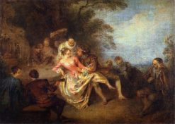Gathering of Actors of the Comedie-Italienne in a Park | Jean Baptiste Pater | Oil Painting