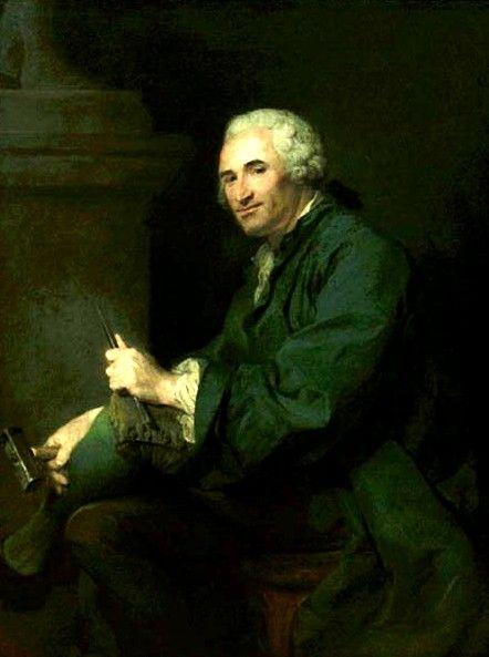 Portrait of Lambert Sigisbert Adam   Jean Baptiste Perronneau   Oil Painting