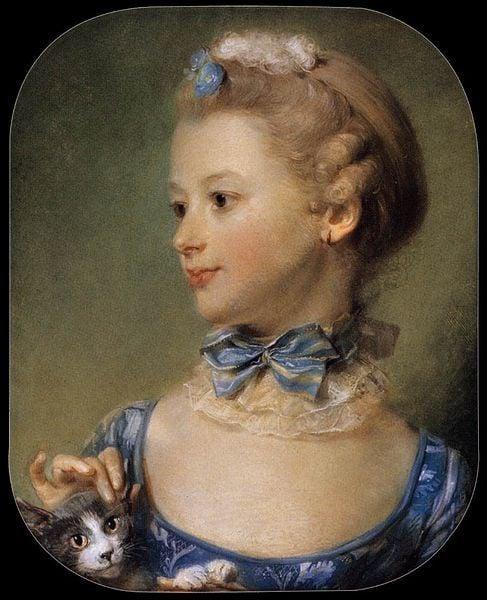 Madamoiselle Huquier   Jean Baptiste Perronneau   Oil Painting