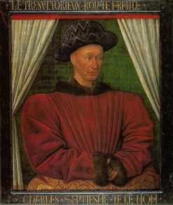 Portrait of Charles VII of France | Jean Fouquet | Oil Painting