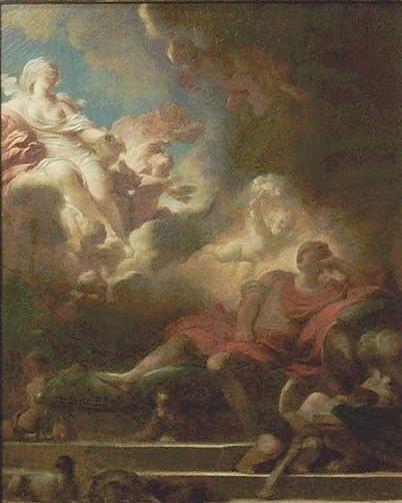 Le Songe d'amour du guerrier (The Warrior's Dream of Love) | Jean HonorE Fragonard | Oil Painting