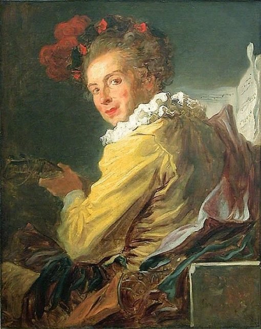 Fantasy Figure of Music - Portrait of M. de La Bretêche | Jean HonorE Fragonard | Oil Painting