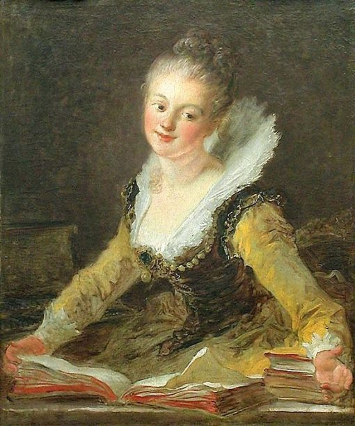 Fantasy Figure - Presumed Portrait of Anne-Louise Brillon de Jouy (1744-1824) | Jean HonorE Fragonard | Oil Painting
