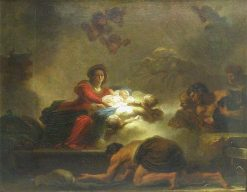 L'Adoration des bergers (Adoration of the Shepherds) | Jean HonorE Fragonard | Oil Painting