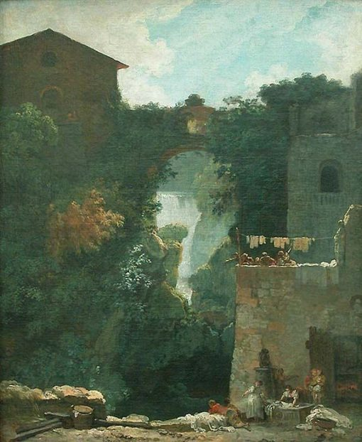 Cascades at Tivoli | Jean HonorE Fragonard | Oil Painting