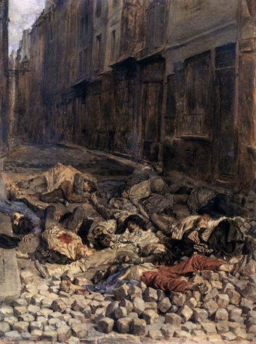 Barricades in June 1848 | Jean Louis Ernest Meissonier | Oil Painting